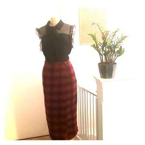Liz Claiborne Plaid Wrap Skirt